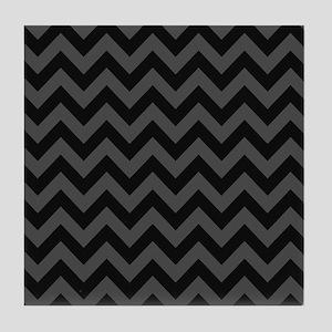 Gray Chevron Tile Coaster