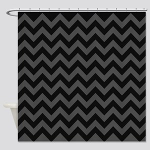 Gray Chevron, Shower Curtain