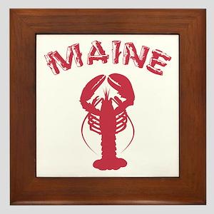 Maine Lobster Framed Tile