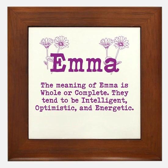 The Meaning Of Emma Framed Tile