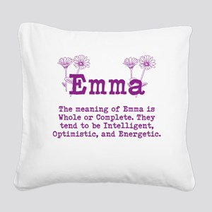 The Meaning of Emma Square Canvas Pillow
