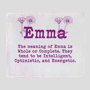 The Meaning of Emma Throw Blanket