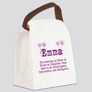 The Meaning of Emma Canvas Lunch Bag