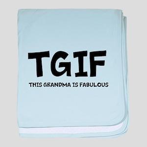 Fabulous Grandma baby blanket