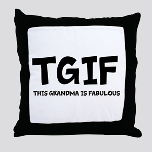 Fabulous Grandma Throw Pillow