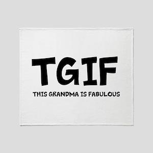 Fabulous Grandma Throw Blanket