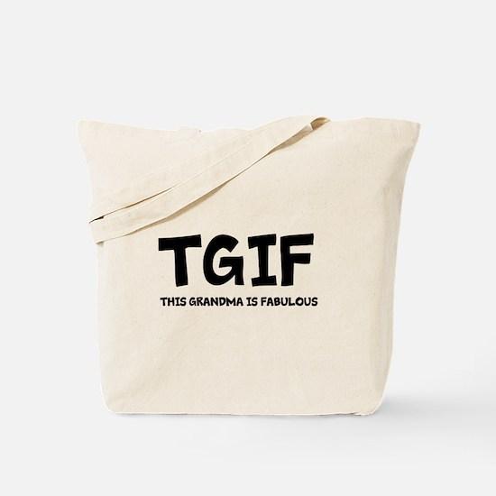 Fabulous Grandma Tote Bag