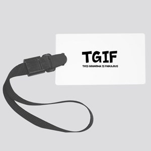 Fabulous Grandma Large Luggage Tag