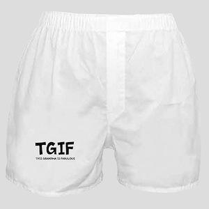 Fabulous Grandma Boxer Shorts