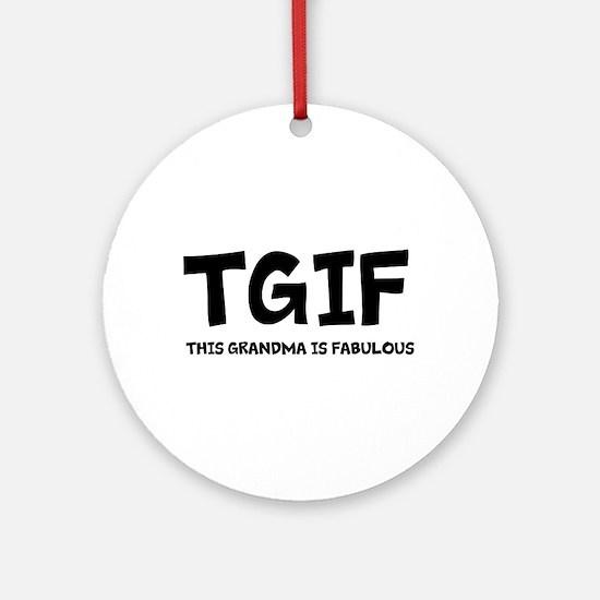 Fabulous Grandma Ornament (Round)