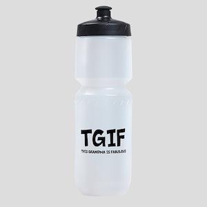 Fabulous Grandma Sports Bottle