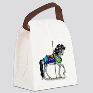 The Carousel Horse Canvas Lunch Bag