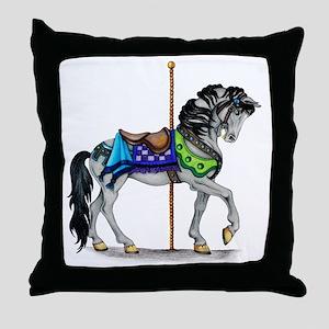 The Carousel Horse Throw Pillow