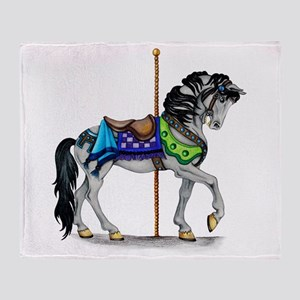 The Carousel Horse Throw Blanket