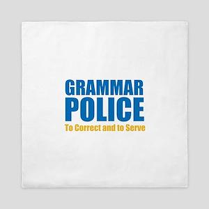 Grammar Police Queen Duvet