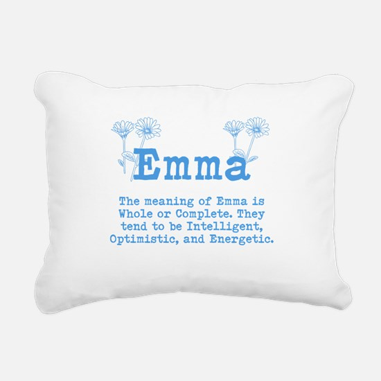 The Meaning of Emma Rectangular Canvas Pillow