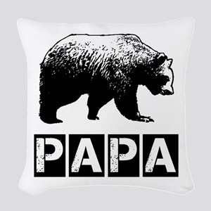 Papa-bear Woven Throw Pillow