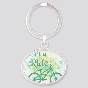 Get a ride Oval Keychain
