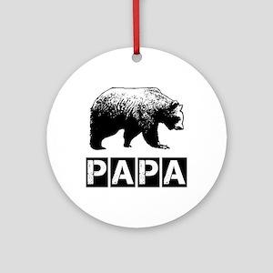 Papa-bear Ornament (Round)