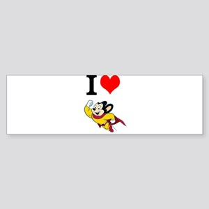 I Love Mighty Mouse Bumper Sticker