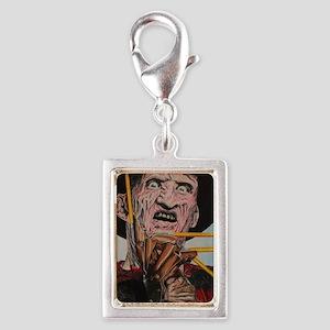 Freddy and Pencils Silver Portrait Charm