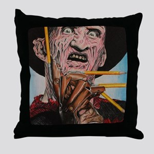 Freddy and Pencils Throw Pillow