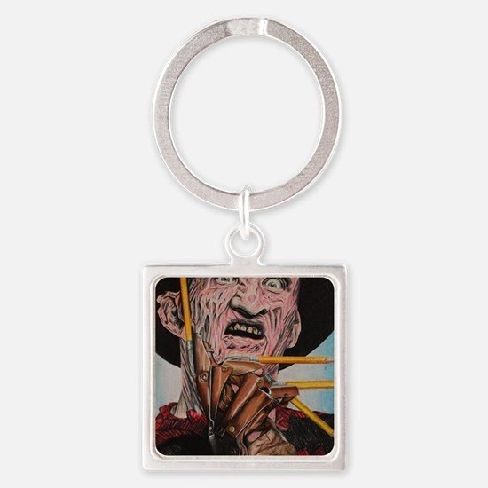 Freddy and Pencils Square Keychain