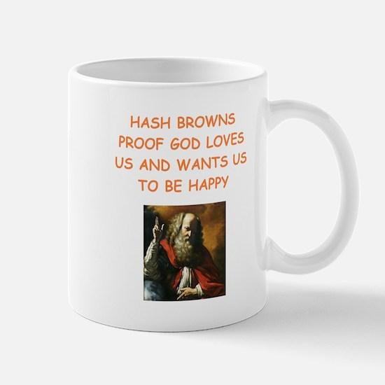 hash browns Mugs