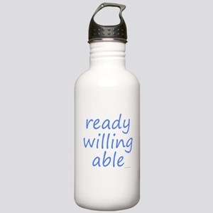 ready willing able blue Stainless Water Bottle 1.0