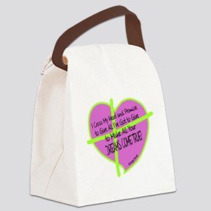 Cross My Heart-George Strait Canvas Lunch Bag