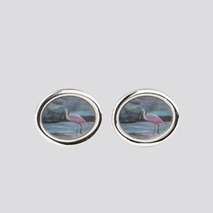 THE REAL FLORIDA-Roseate Spoonbill Cufflinks