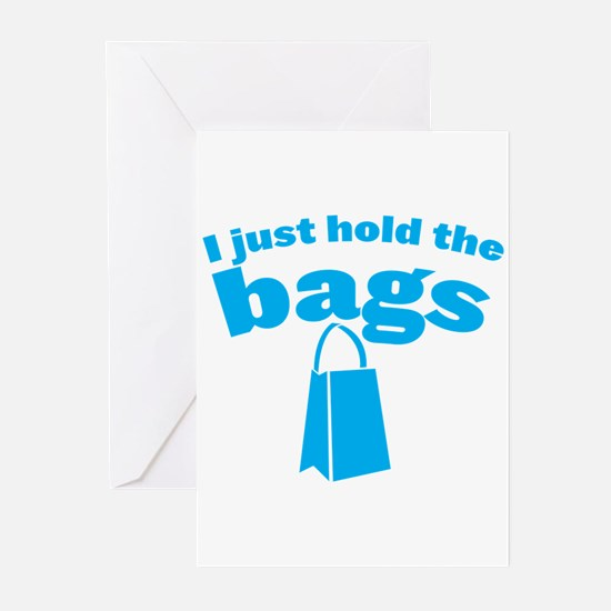 I just HOLD the BAGS! with shopping bag in blue Gr