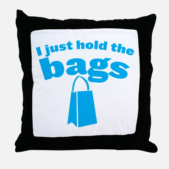 I just HOLD the BAGS! with shopping bag in blue Th
