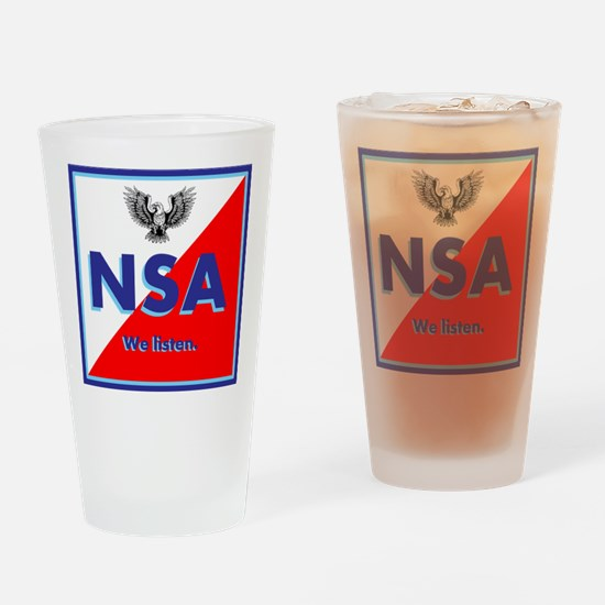 NSA Drinking Glass