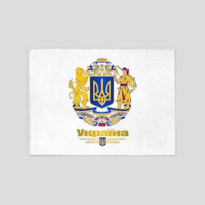 Ukraine COA 5'x7'Area Rug