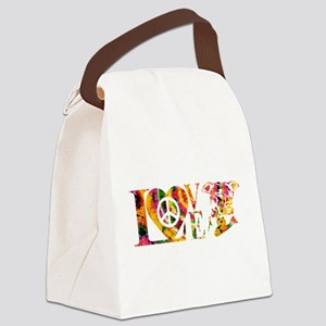 PITBULL LOVE Canvas Lunch Bag