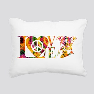 PITBULL LOVE Rectangular Canvas Pillow