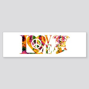 PITBULL LOVE Bumper Sticker