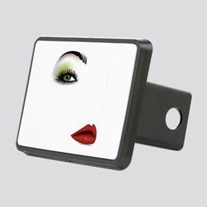 Womans Face Rectangular Hitch Cover