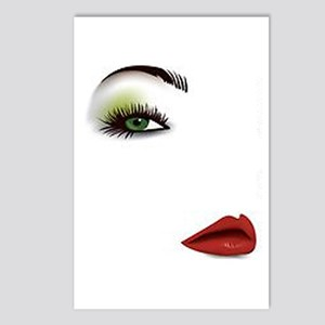 Womans Face Postcards (package Of 8)