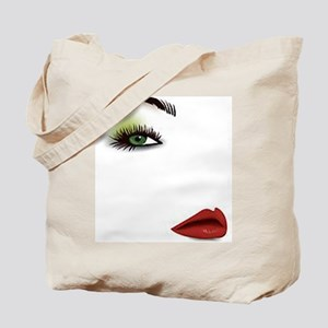 Womans Face Tote Bag