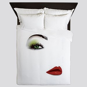 Womans Face Queen Duvet