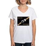 Franklin KY Solar Eclipse Women's V-Neck T-Shirt