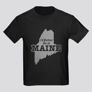 I'd Rather Be In Maine Kids Dark T-Shirt