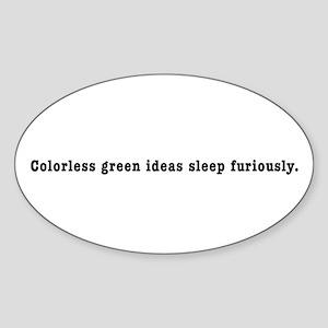 colorlessgreenblk Sticker