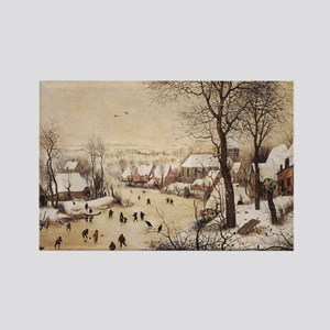 Winter Landscape by Pieter Bruege Rectangle Magnet