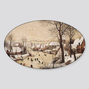Winter Landscape by Pieter Bruegel  Sticker (Oval)