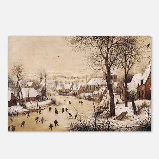Winter Landscape by Piete Postcards (Package of 8)