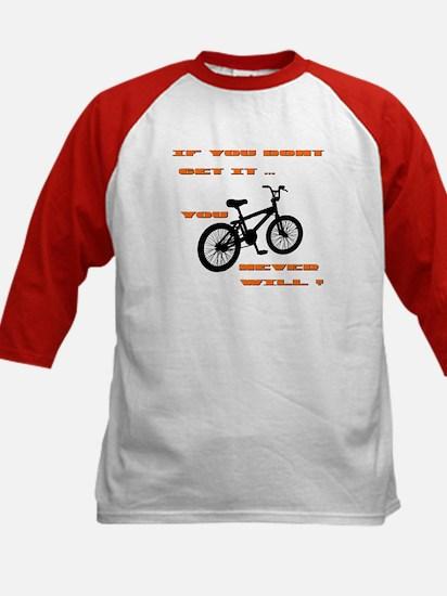 BMX Bike Kids Baseball Jersey