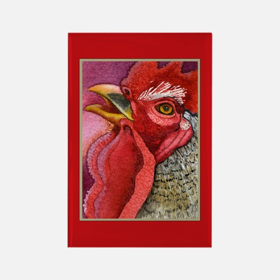 COLORFUL CHICKENS Rectangle Magnet